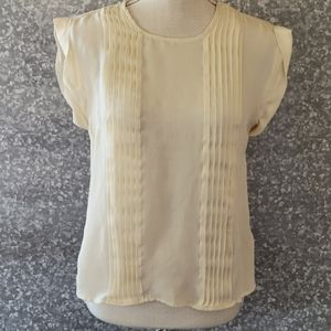 Silkland pleated silk blouse size small